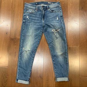 Gap Distressed Denim Boyfriend Jeans